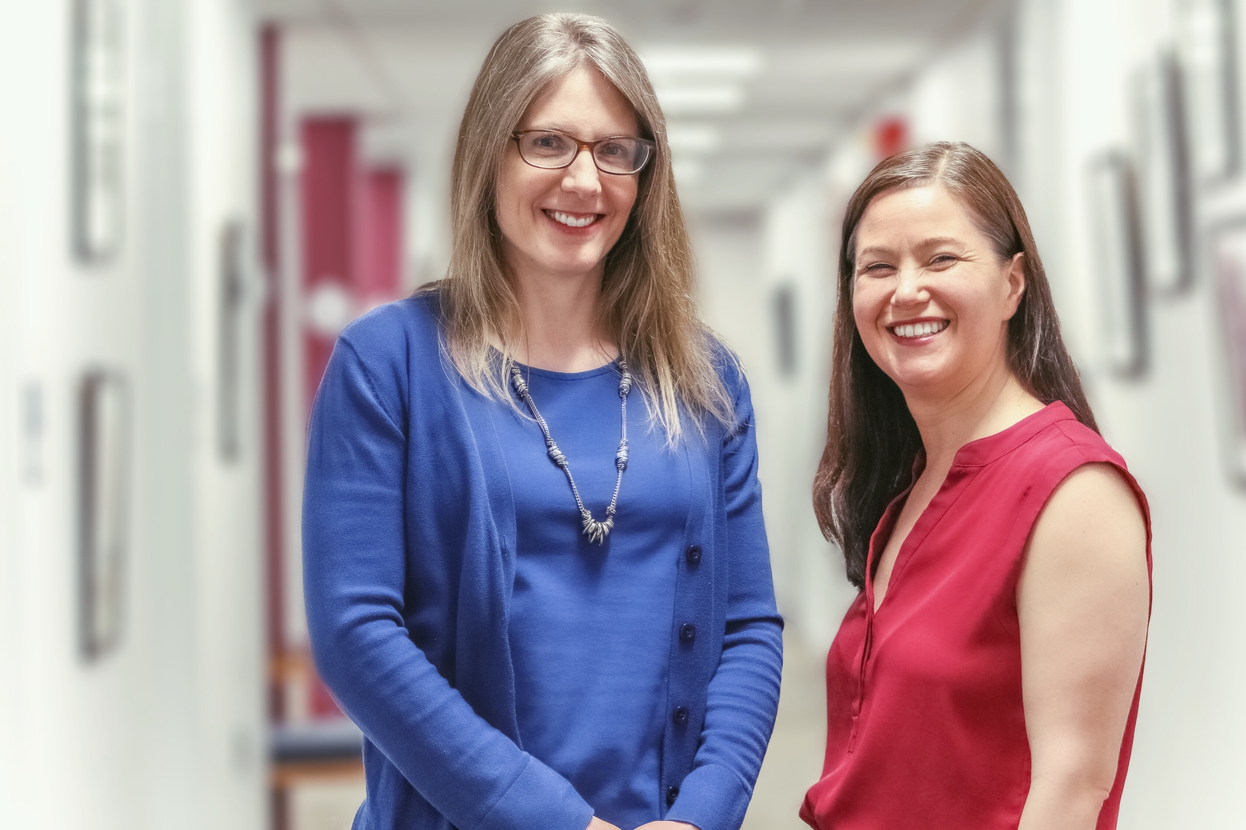 Professors Erika Skoe and Jennifer Tufts from the University of Connecticut Department of Speech, Language and Hearing Sciences are conducting research related to noise-induced hearing loss (NIHL) (Carson Stifel/UConn Photo)