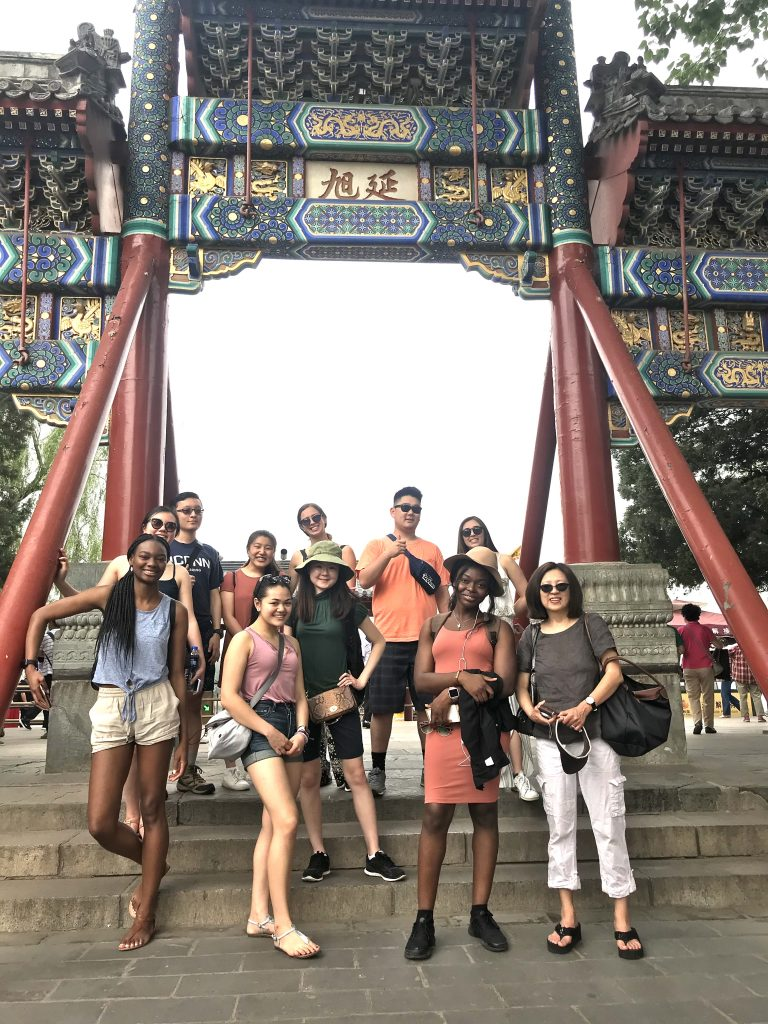 UConn students at Beijing Summer Palace