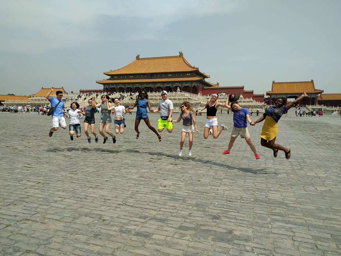 UConn students visit the Forbidden City in China