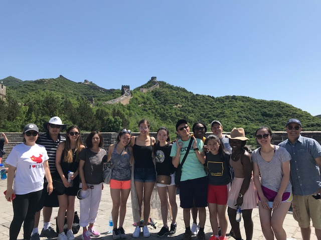UConn students and faculty at The Great Wall in China