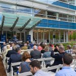 Governor Dannel Malloy speaks during the dedication of the Engineering & Science Building on June 11, 2018. (Peter Morenus/UConn Photo)