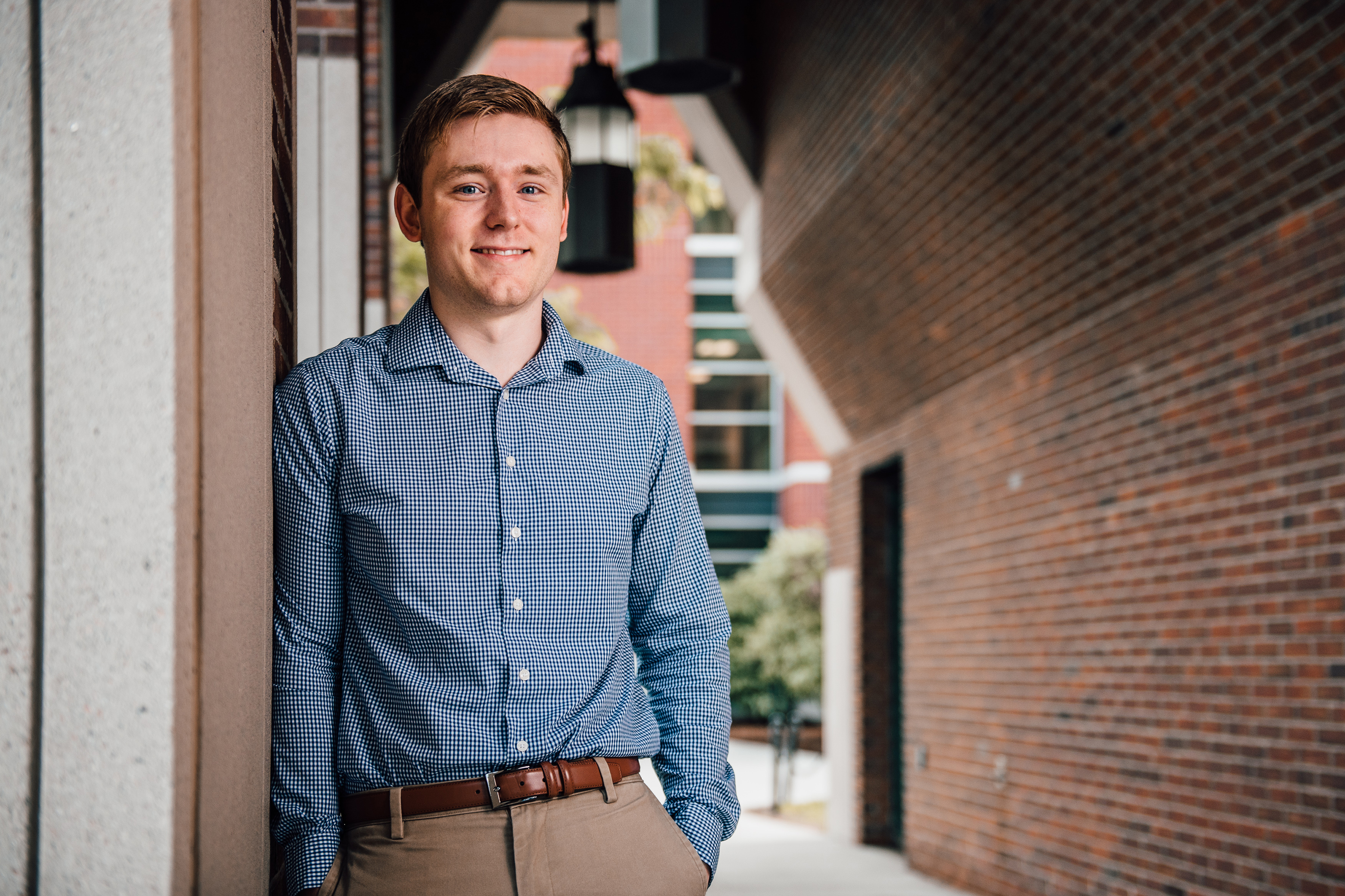 Matthew Bradford, who earned two degrees in accounting at UConn, earned one of the best CPA exam scores in the nation, and the top one in Connecticut, in 2017. (Nathan Oldham/UConn Photo)