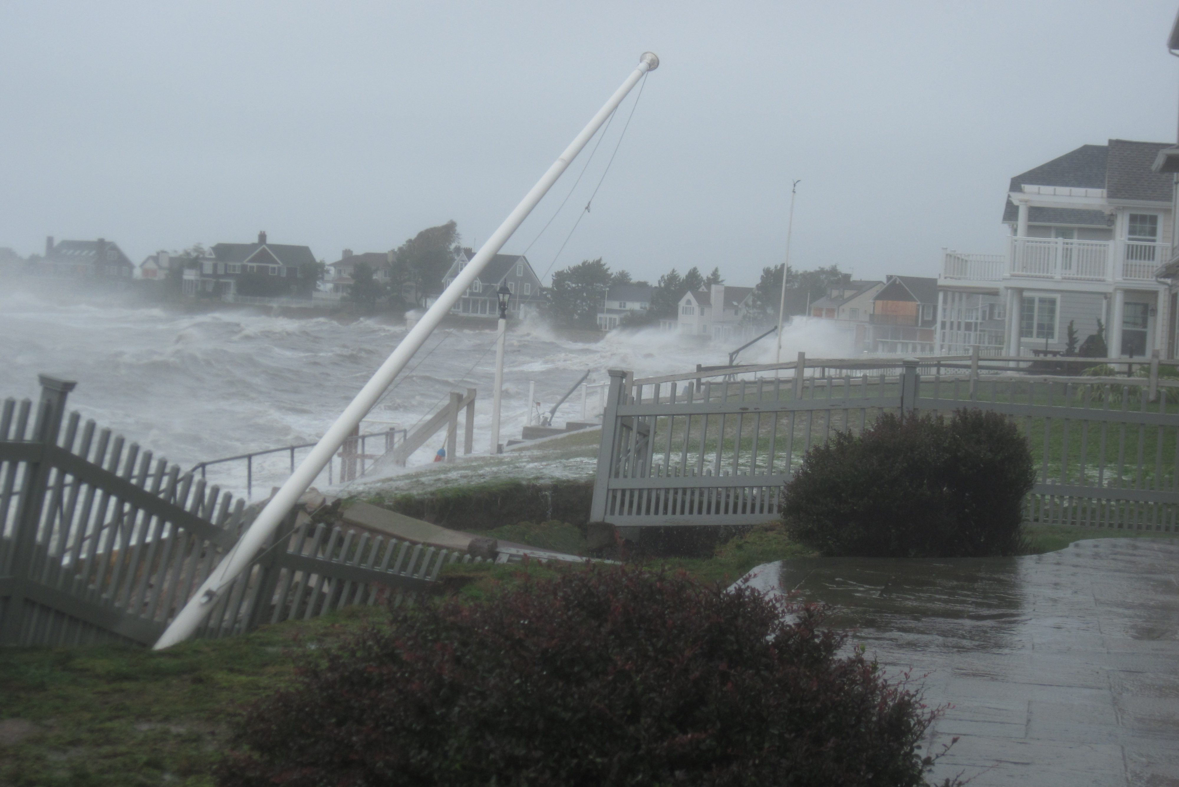 Hurricane Irene slams the Connecticut coast. (CT DEEP)