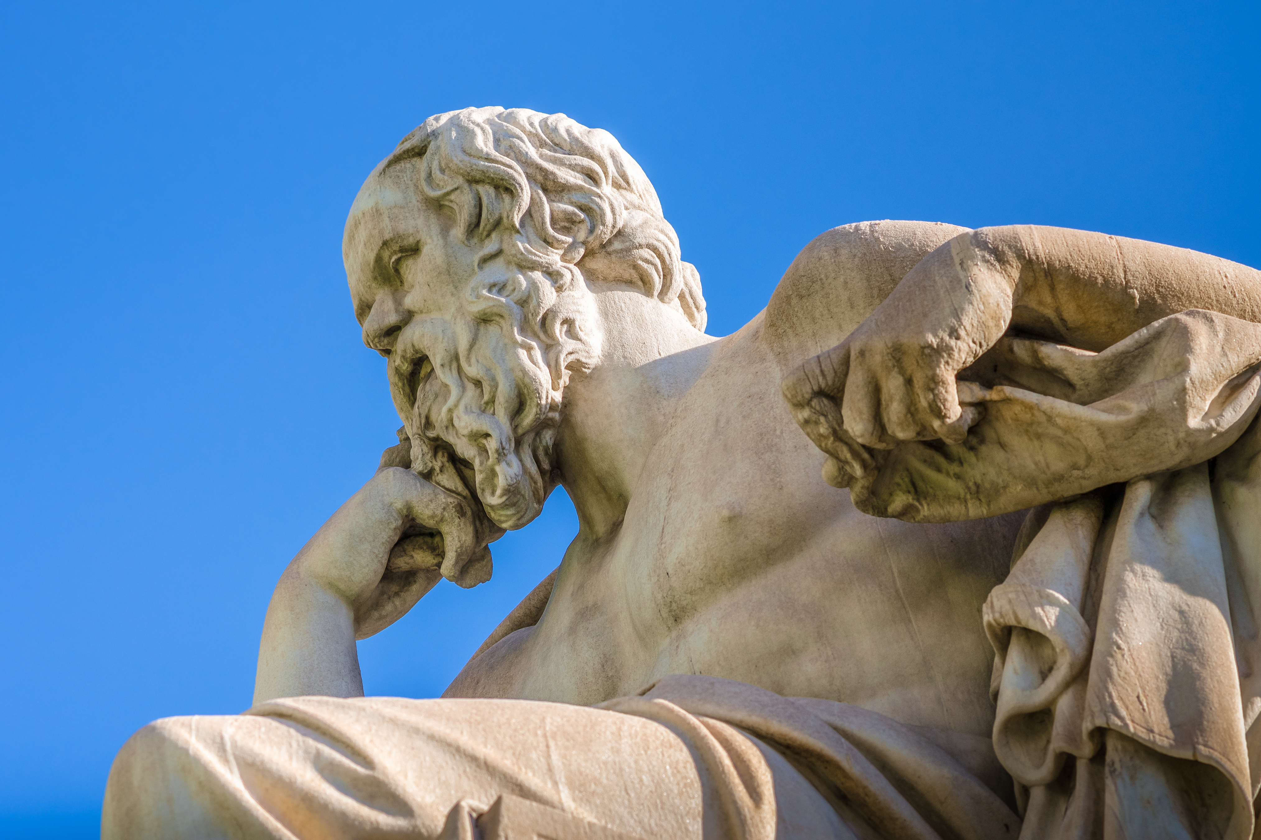 Close-Up marble statue of the Great Greek philosopher Socrates. (Getty Images)