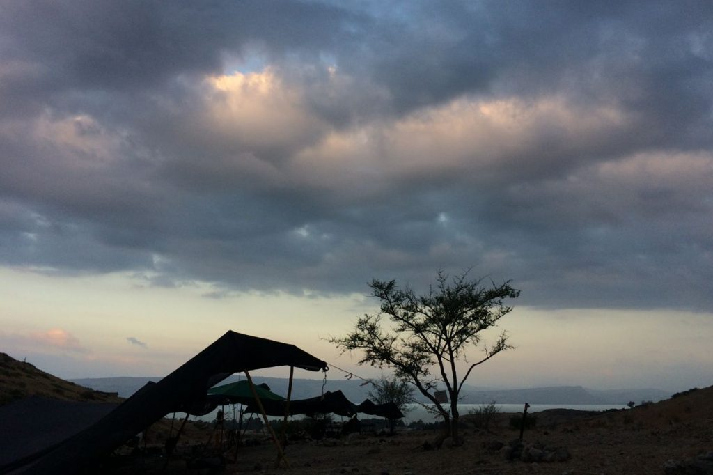 Natalie Munro's field site in Israel, located about two kilometers above the eastern shore of the Sea of Galilee. (Natalie Munro/UConn Photo)