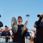 UConn Marching Band members perform during the football game at Pratt & Whitney Stadium at Rentschler Field on Aug. 30, 2018. (Peter Morenus/UConn Photo)