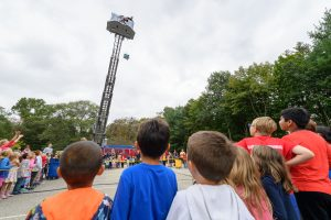 UConn Fire Department Adds Excitement To Elementary School Egg Drop