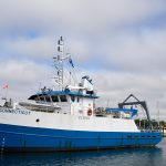 A view of the R/V Connecticut at the Avery Point campus on Sept. 13, 2018. (Peter Morenus/UConn Photo)