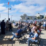 The recommissioning ceremony for the R/V Connecticut held at the Avery Point campus on Sept. 13, 2018. (Peter Morenus/UConn Photo)