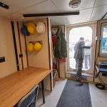 Dry laboratory space aboard the R/V Connecticut. (Peter Morenus/UConn Photo)