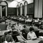 Wilbur Cross Reading Room c. 1962. (University Library Archives & Special Collections)