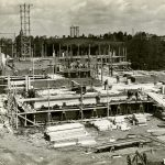 Wilbur Cross Building under construction in 1938. (University Library Archives & Special Collections)