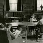 Wilbur Cross Reading Room in the 1940s. (University Library Archives & Special Collections)