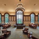 A view of the renovated South Reading Room at the Wilbur Cross Building on Sept. 25, 2018. (Peter Morenus/UConn Photo)