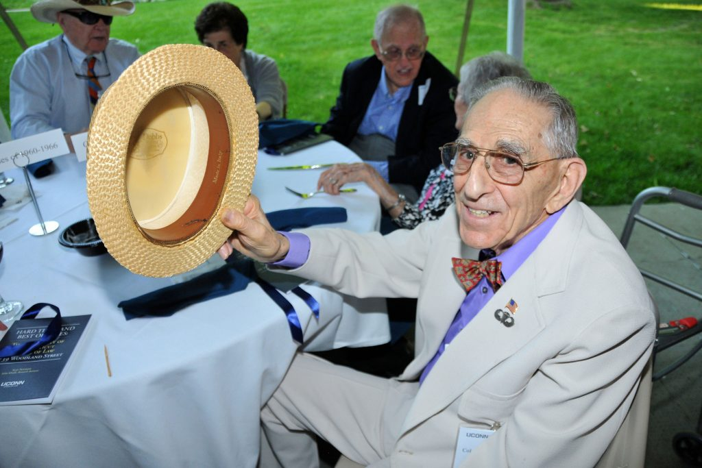 Milton Katz '51 regularly attends events at UConn Law, including conferences and alumni reunions.