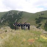 UConn graduate students and undergraduate field school participants after their ascent of Mt. Arailer, located to the north of Yerevan, Armenia, in July 2017.