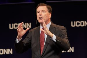 Former FBI Director James Comey Speaks at UConn