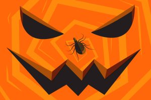 Think tick, or risk being tricked by these 'blood-sucking vampires,' cautions pathobiologist Paulo Verardi, whose lab is working to develop vaccines for a number of emerging tick-borne diseases. (Yesenia Carrero/UConn Illustration)