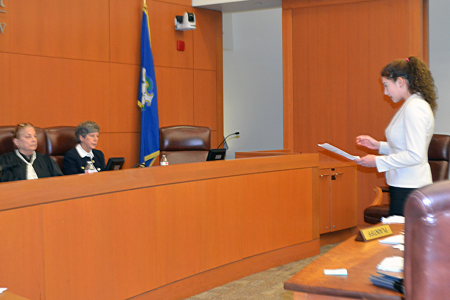 student at mock trial