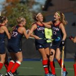 UConn defeated Liberty 5-3 to win the Big East Field Hockey Championship on Nov. 4, proceeding to the NCAA Tournament. The Huskies lost to No. 2 Maryland in the quarterfinals. (Joel Coleman for UConn)
