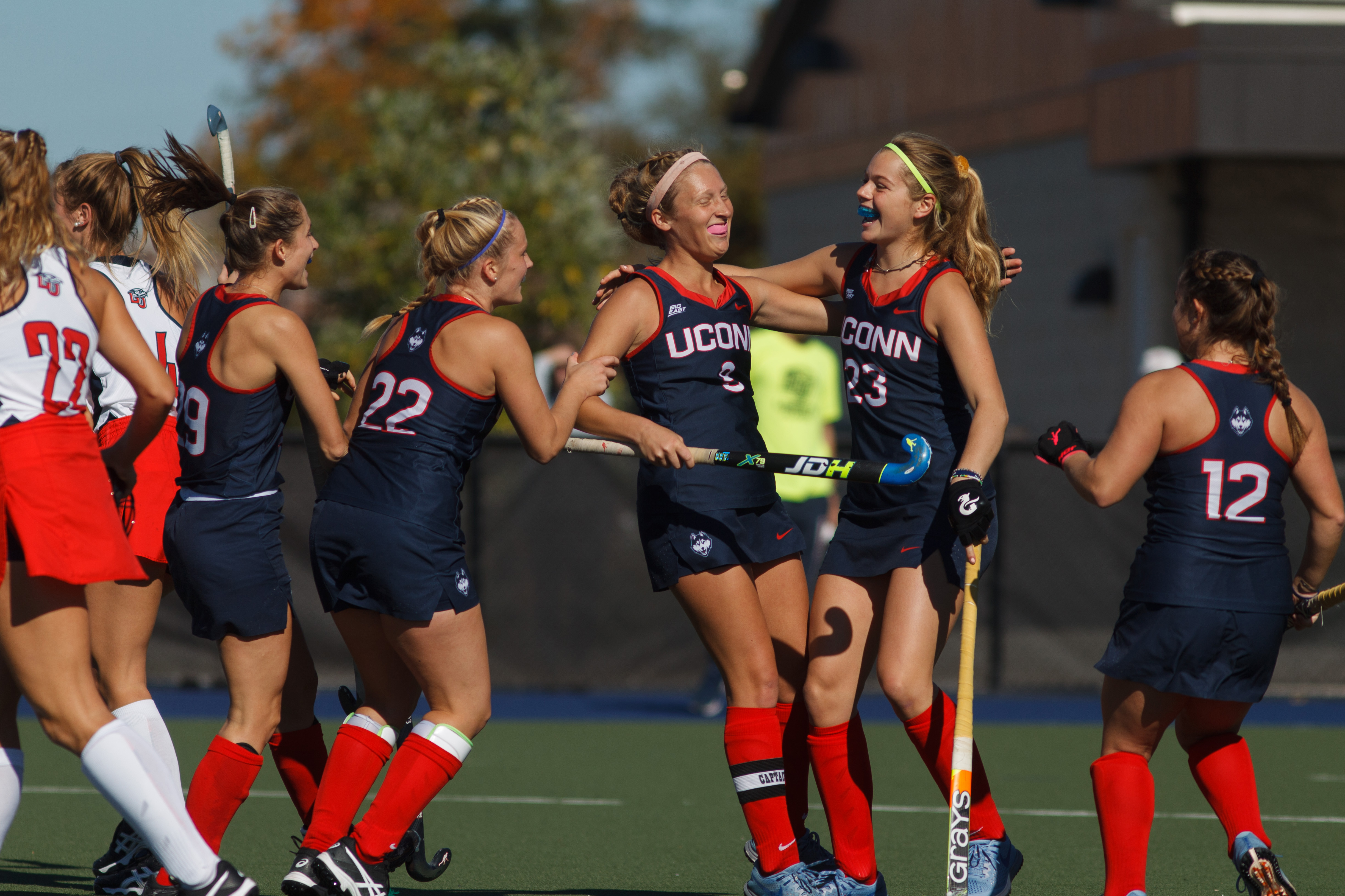 UConn defeated Liberty 5-3 to win the Big East Field Hockey Championship on Nov. 4, 2018. (Joel Coleman for UConn)