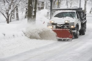 Truck plowing snow. (Getty Images)