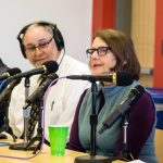Biology professor and State Ornithologist Margaret Rubega answers a question during a live interview for UConn360 Podcast. (Lucas Voghell '20 (CLAS)/UConn Photo)
