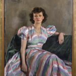 A portrait of Mrs. Mary Potter, oil on canvas, 1940, from the Benton Museum's collection.