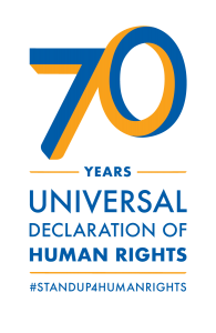 70th Anniversary of Universal Declaration of Human Rights Logo