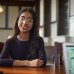 Akshayaa Chittibabu '19 (CLAS) was named a Marshall Scholar, one of the most prestigious honors available to undergraduate students in the U.S. A resident of Shrewsbury, Massachusetts, Chittibabu is also a STEM Scholar in UConn's Honors Program, 2018 Truman Scholar, 2018 UN Foundation Global Health Fellow, 2018 Washington Leadership Program Scholar, 2017 Newman Civic Fellow, 2016 Holster Scholar, and a UConn New England Scholar. She was also elected to Phi Beta Kappa as a junior. (Peter Morenus/UConn Photo)