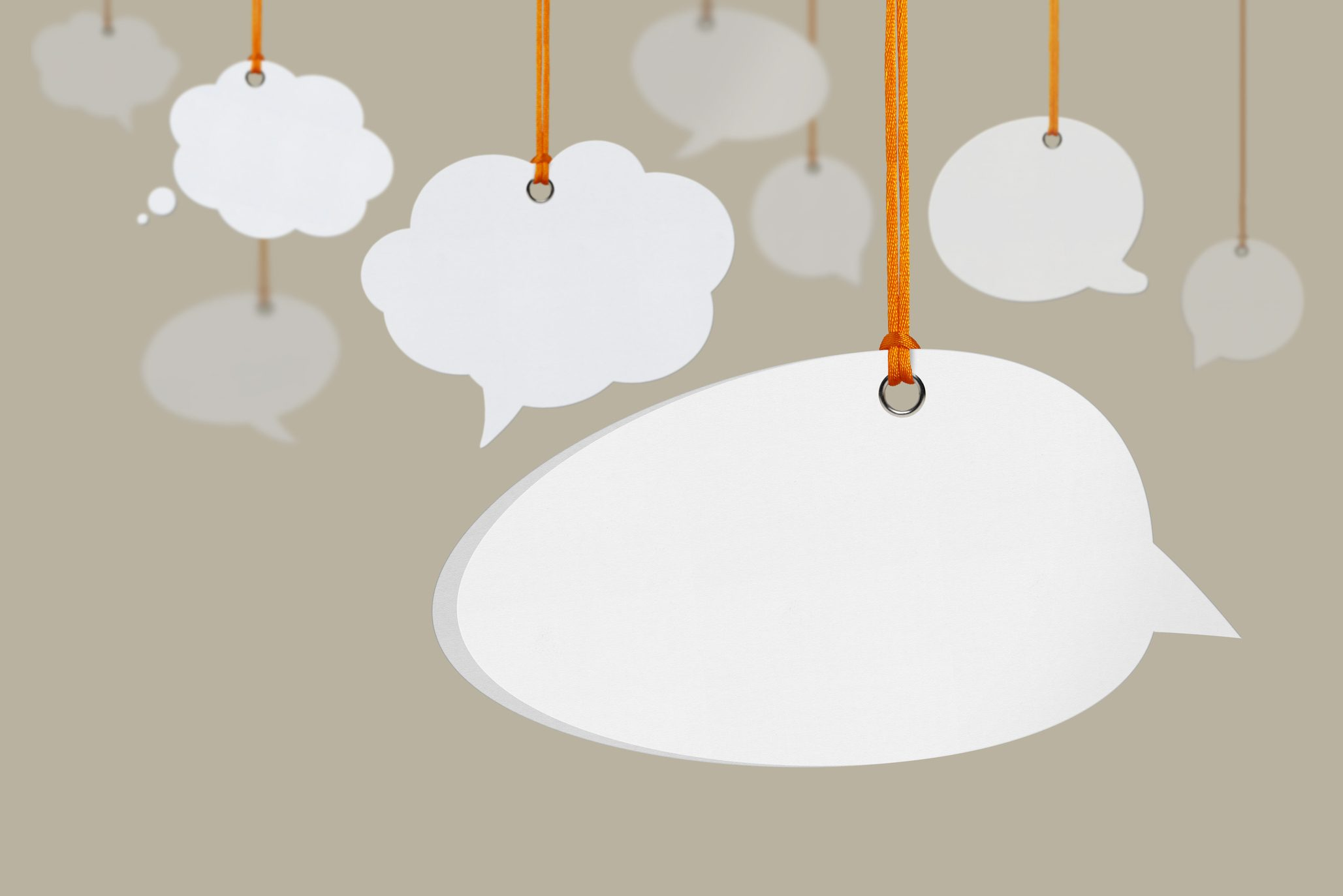 Hanging Speech Bubbles. (Getty Images)
