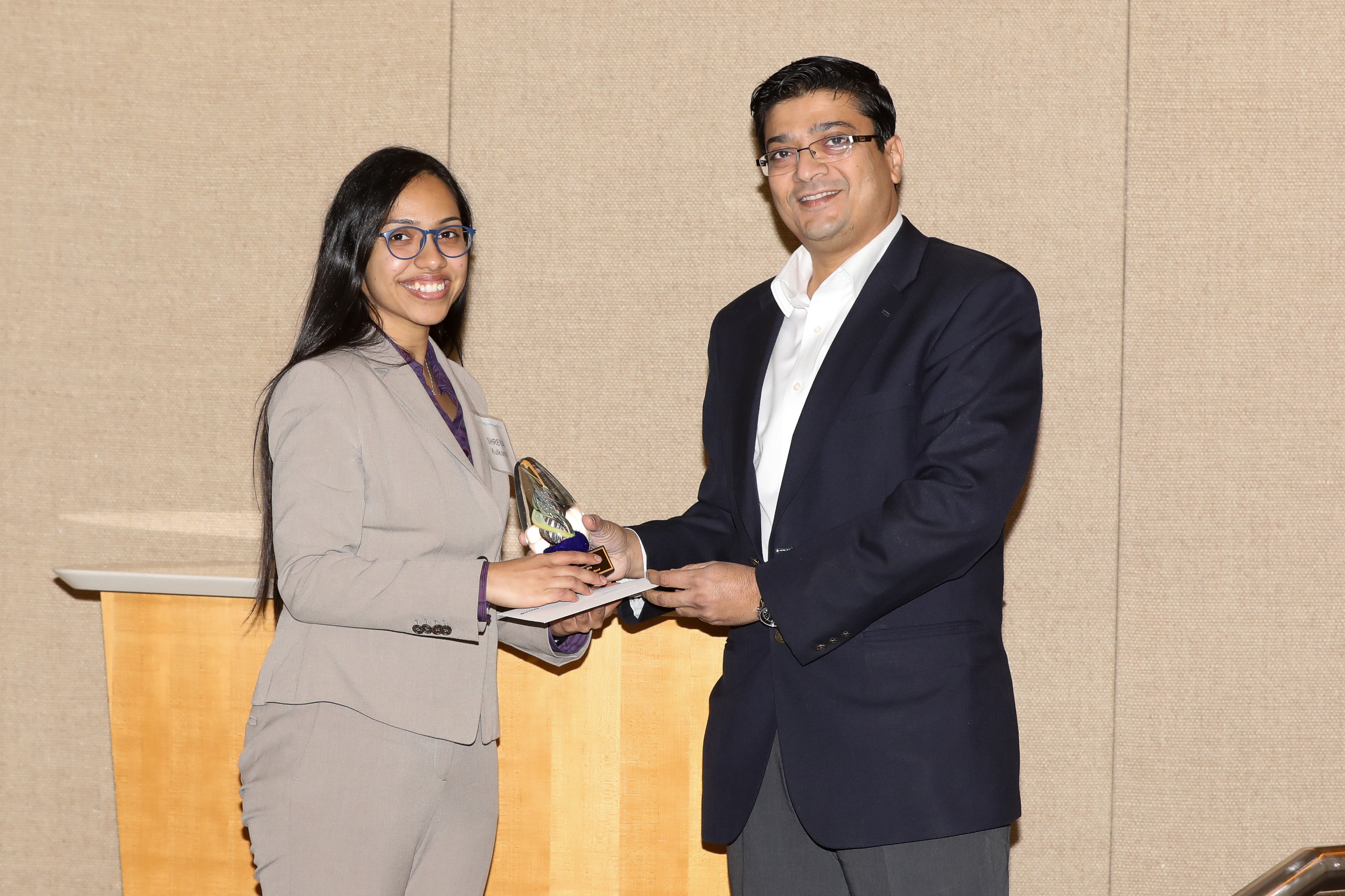 Shreya Kulkarni receives Baxter's Young Investigator award