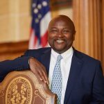 In May, UConn alum Richard A. Robinson '79 (CLAS) was appointed as the next chief justice of the Connecticut Supreme Court, when his nomination was unanimously approved by the state Senate and House of Representatives. He is the first African-American chief justice in Connecticut Supreme Court history. (Peter Morenus/UConn Photo)