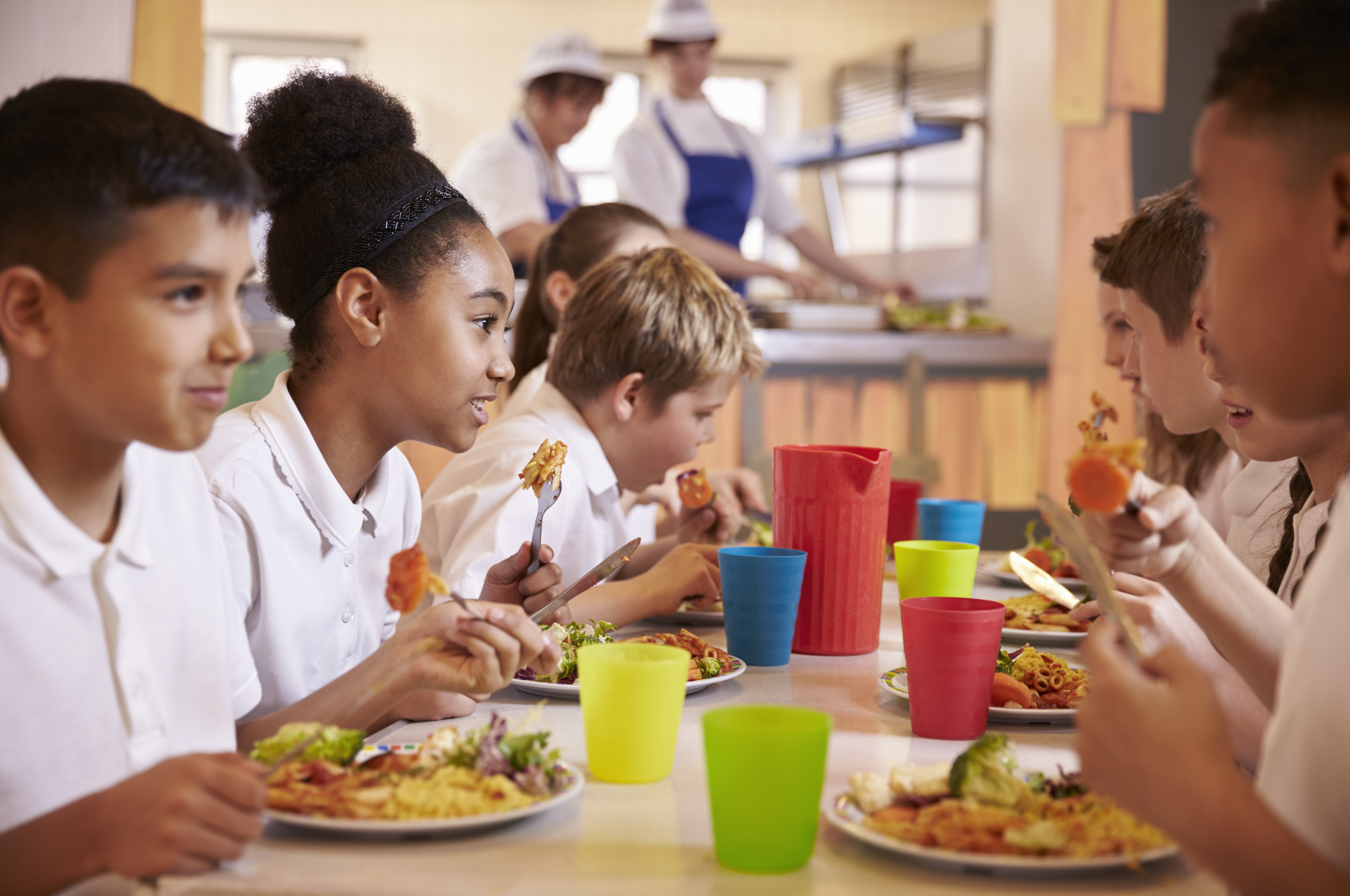 Implementing strong school nutrition policies is associated with healthier weight trajectories in middle school students, according to a new study by researchers at UConn and Yale. (Shutterstock Photo)