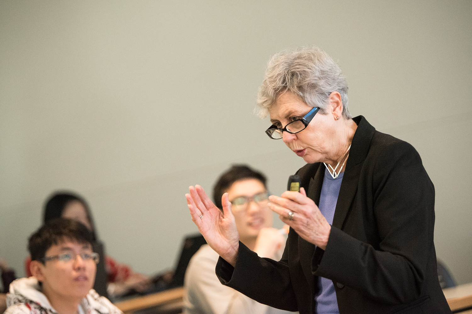 Susan Spiggle (above), professor emeritus in marketing, delivers a presentation entitled