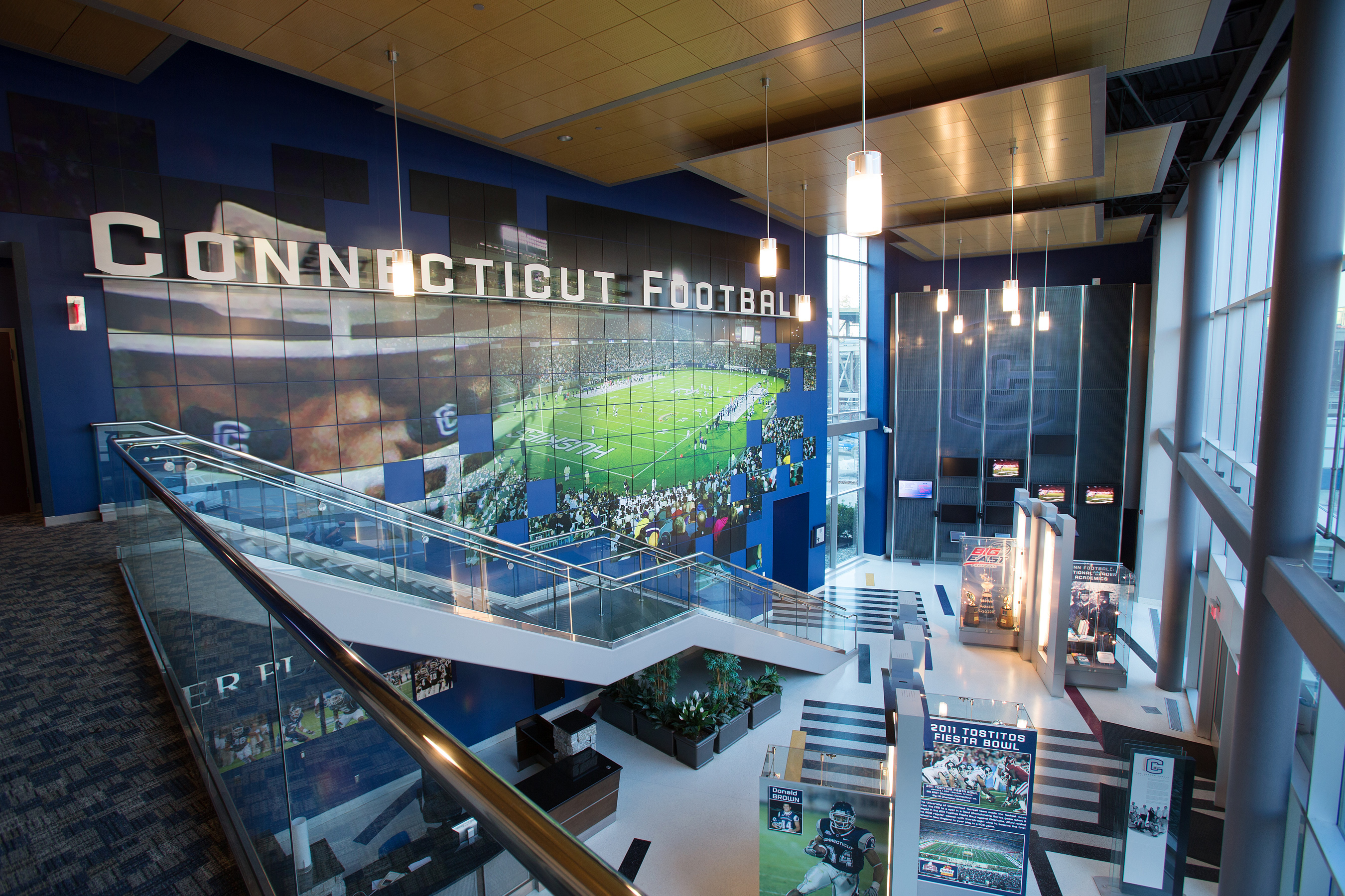 Interior view of the Burton Family Football Complex. (Stephen Slade '89 (SFA) for UConn)