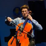 Camden Archambeau, cello, age 17, was among the other students who performed on NPR's 'From the Top,' when it recorded two live shows in one night at Jorgensen. (Photo courtesy of 'From the Top')