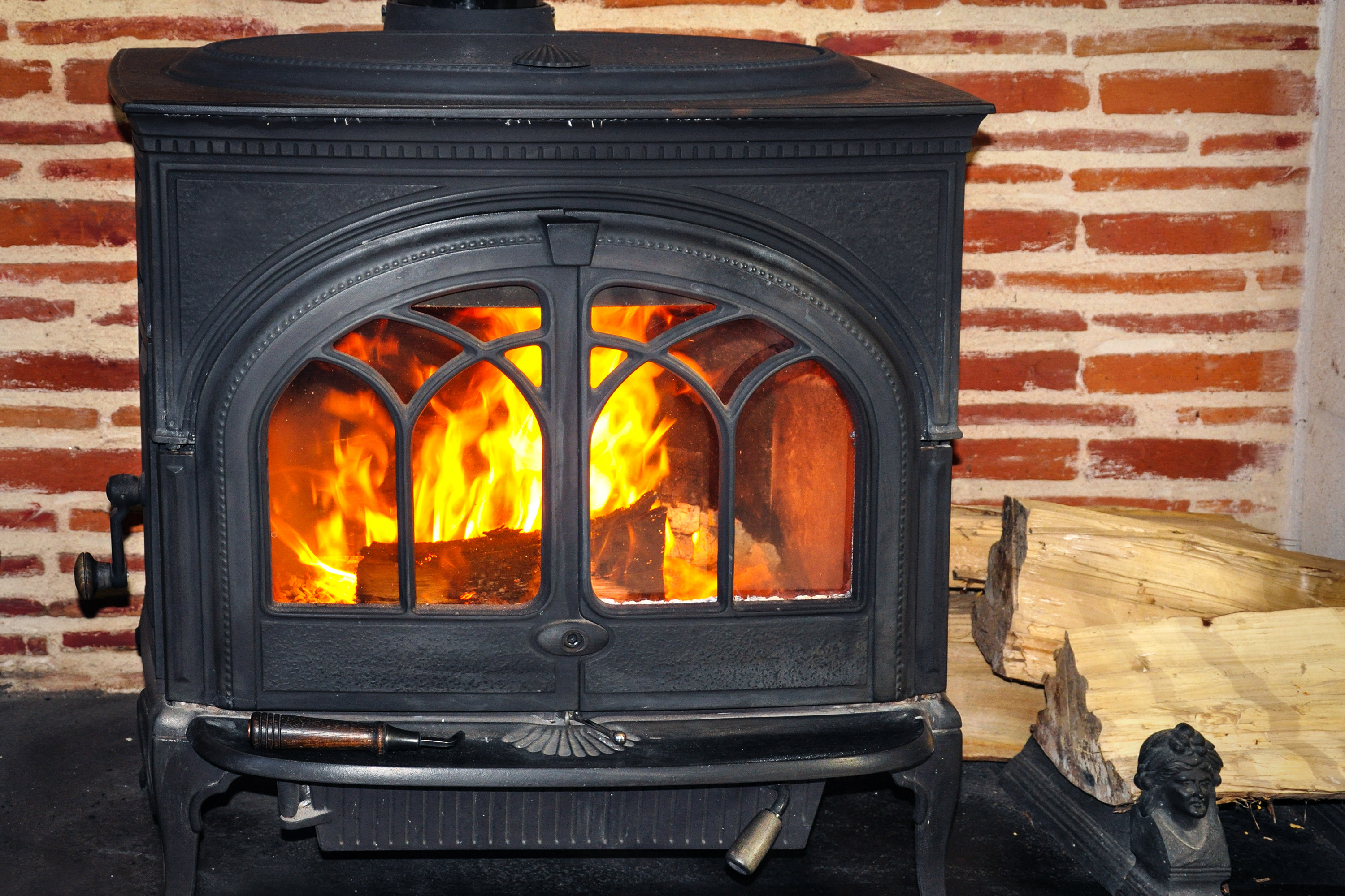 Wood burning stove. (Getty Images)