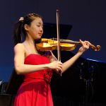 Miray Ito, violin, age 15, was among the other students who performed on NPR's 'From the Top, when it recorded two live shows in one night at Jorgensen. (Photo courtesy of 'From the Top')