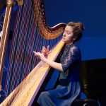 Priyanka Gohal, harp, age 16, was among the other students who performed on NPR's 'From the Top,' when it recorded two live shows in one night at Jorgensen. (Photo courtesy of 'From the Top')