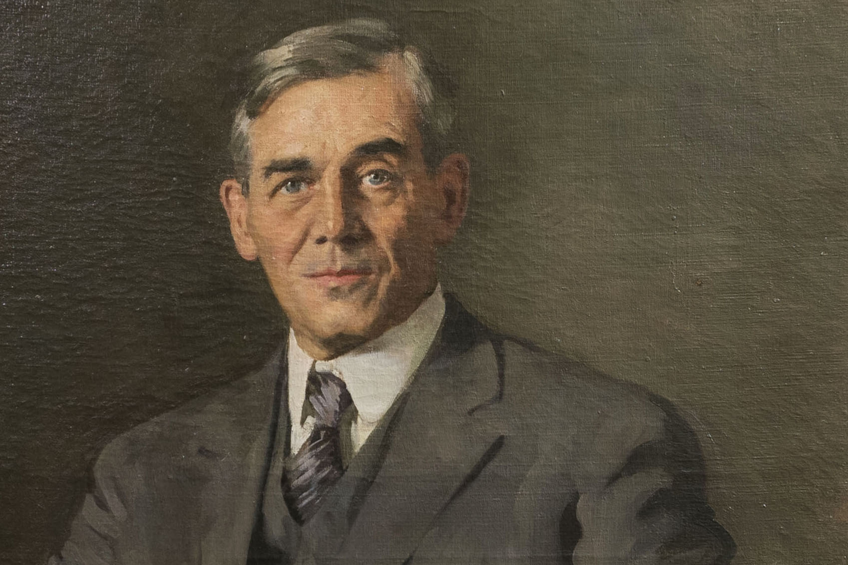 A portrait of Charles Lewis Beach, president of Connecticut Agricultural College from 1908 to 1928, in 1925 by Ellen Emmet Rand. (Sean Flynn/UConn Photo)