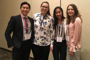 First-year UConn dental students Jay Kim, Alex McKenna, Sara Feltz and Kathryn Forth