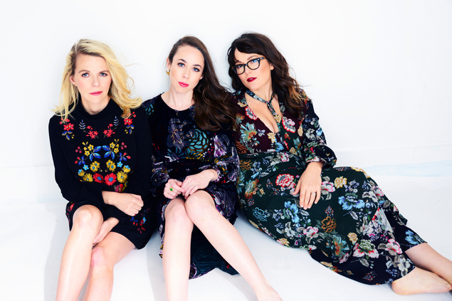From left, band members Aoife O'Donovan, Sarah Jarosz, and Sara Watkins. (Photo by Shervin Lainez)