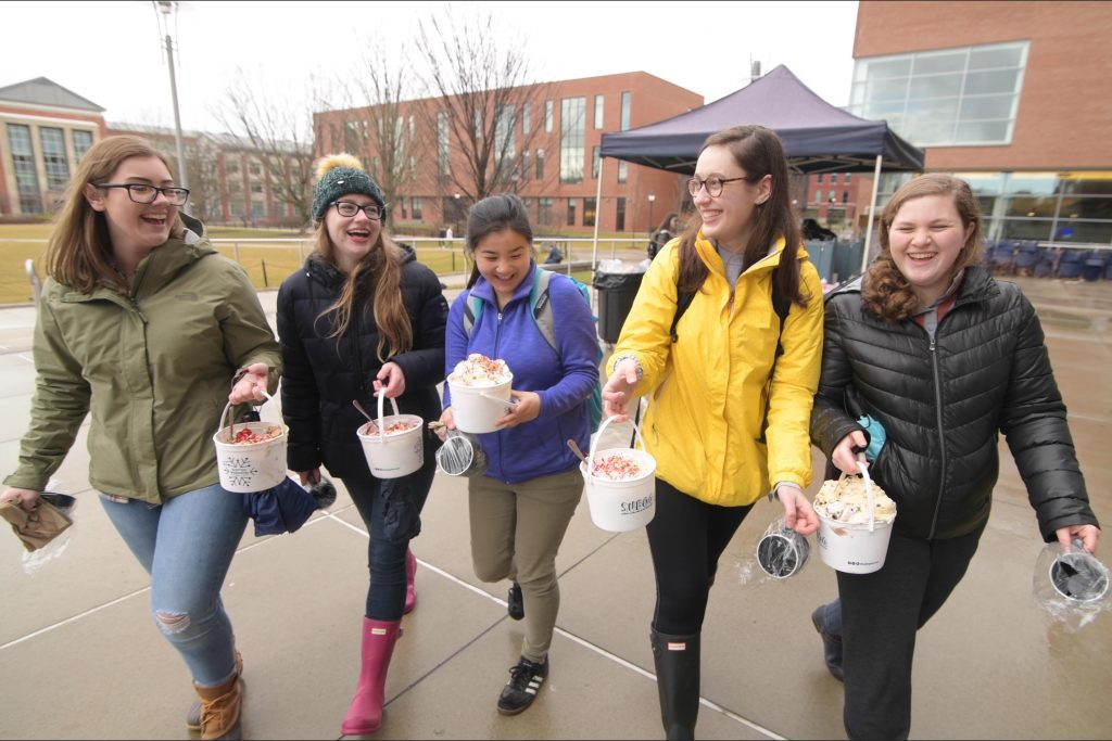 The annual One Ton Sundae is one of UConn's longstanding student traditions. (Tom Rettig/UConn Photo)