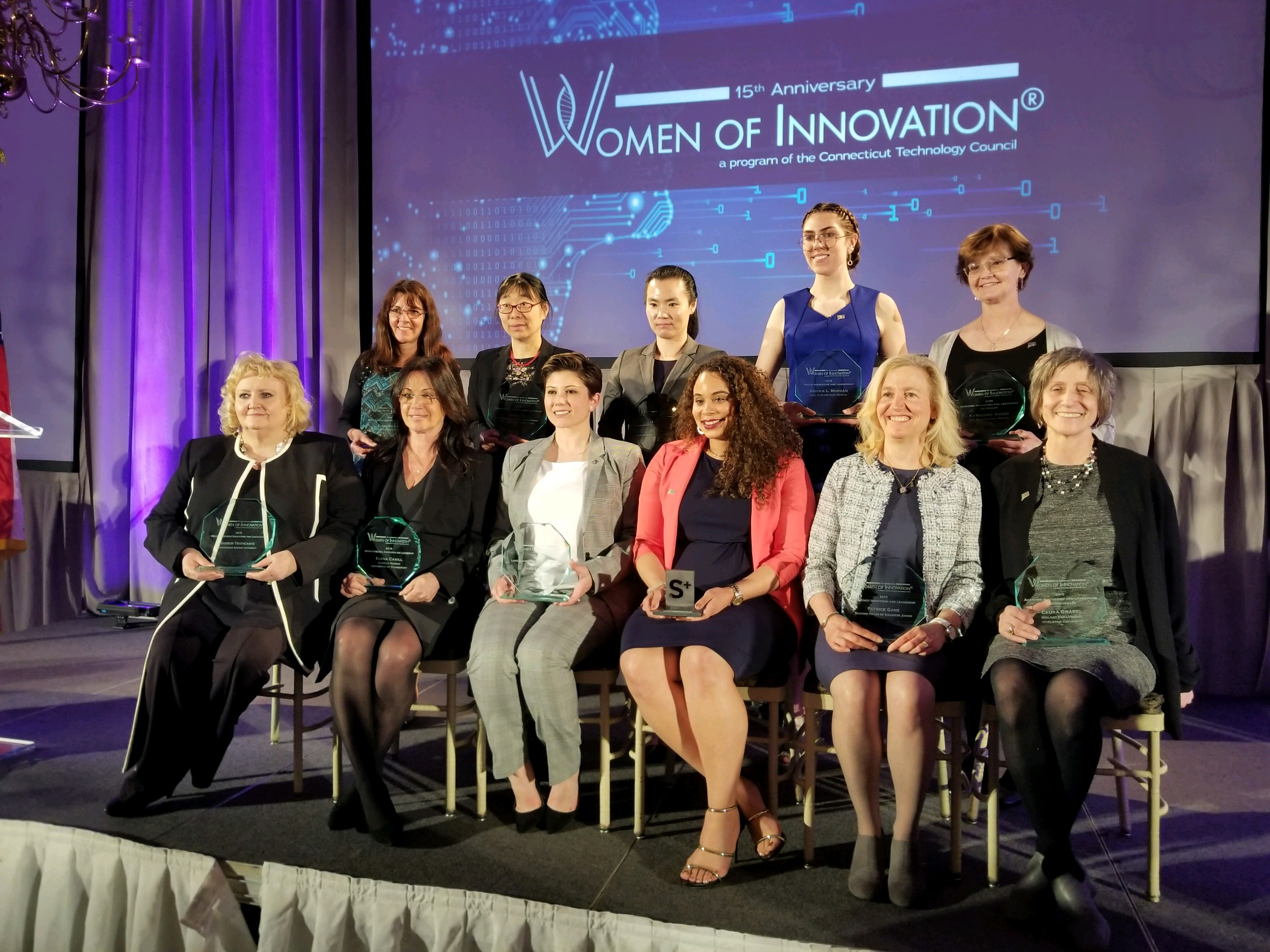 Eleven finalists received special honors at the CT Tech Council's 15th annual Women of Innovation awards gala. (Connecticut Technology Council Photo).