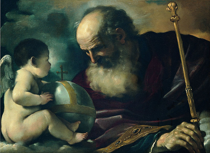 What came first – all-seeing Gods or complex societies? God the Father and Angel, Guercino Giovan Francesco Barbieri via Wikimedia Commons