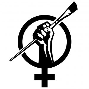 The Art + Feminism logo.