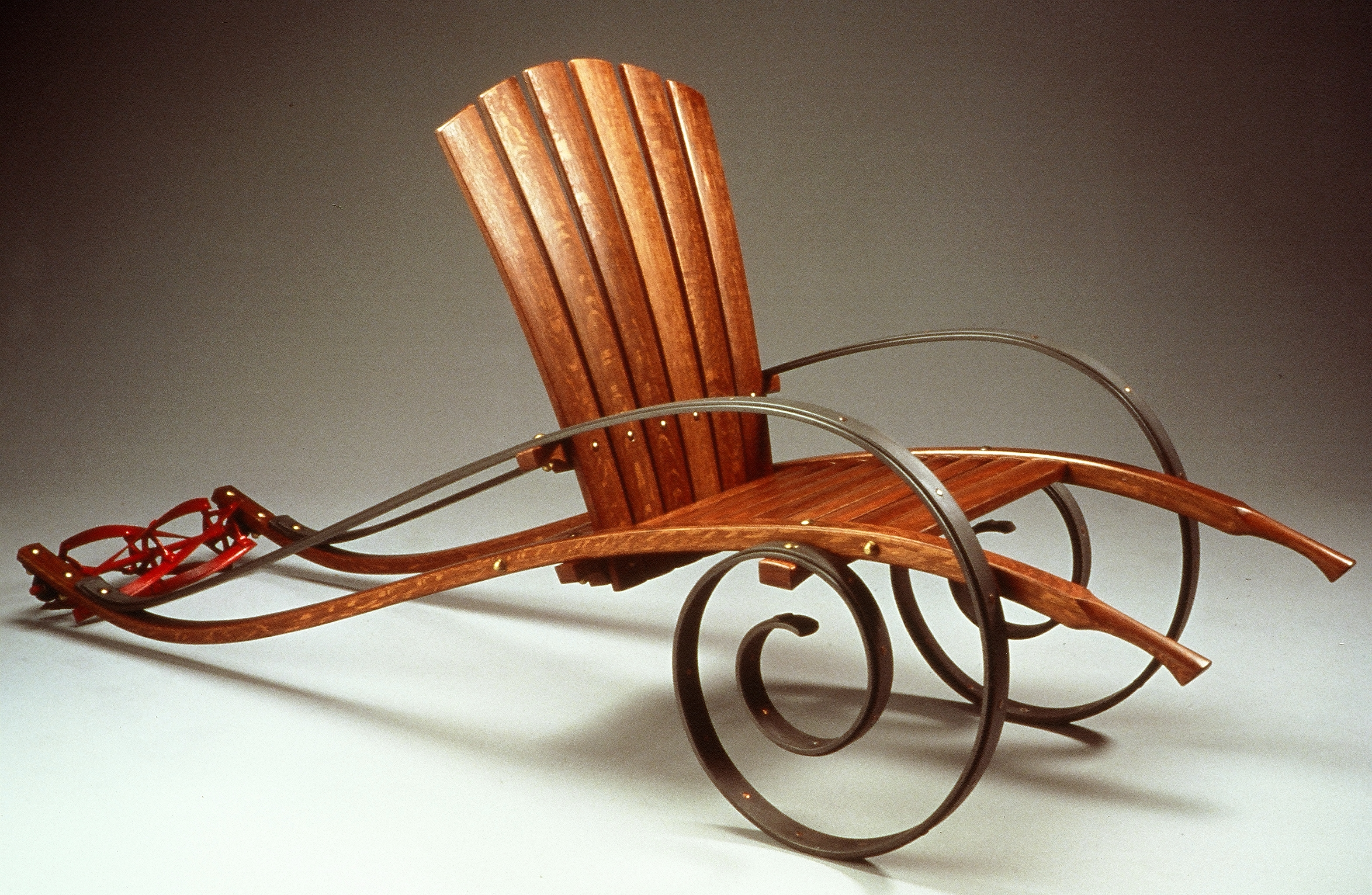 'Armchair Gardener,' by Mitch Ryerson (2000), one of the works on display at the Benton Museum in an exhibit inspired by this year's UConn Reads book selection, Game of Thrones. (Courtesy of the artist)