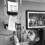 Daniela receives a blood transfusion at Connecticut Children's every three weeks. (Courtesy of the Ciriello Family)