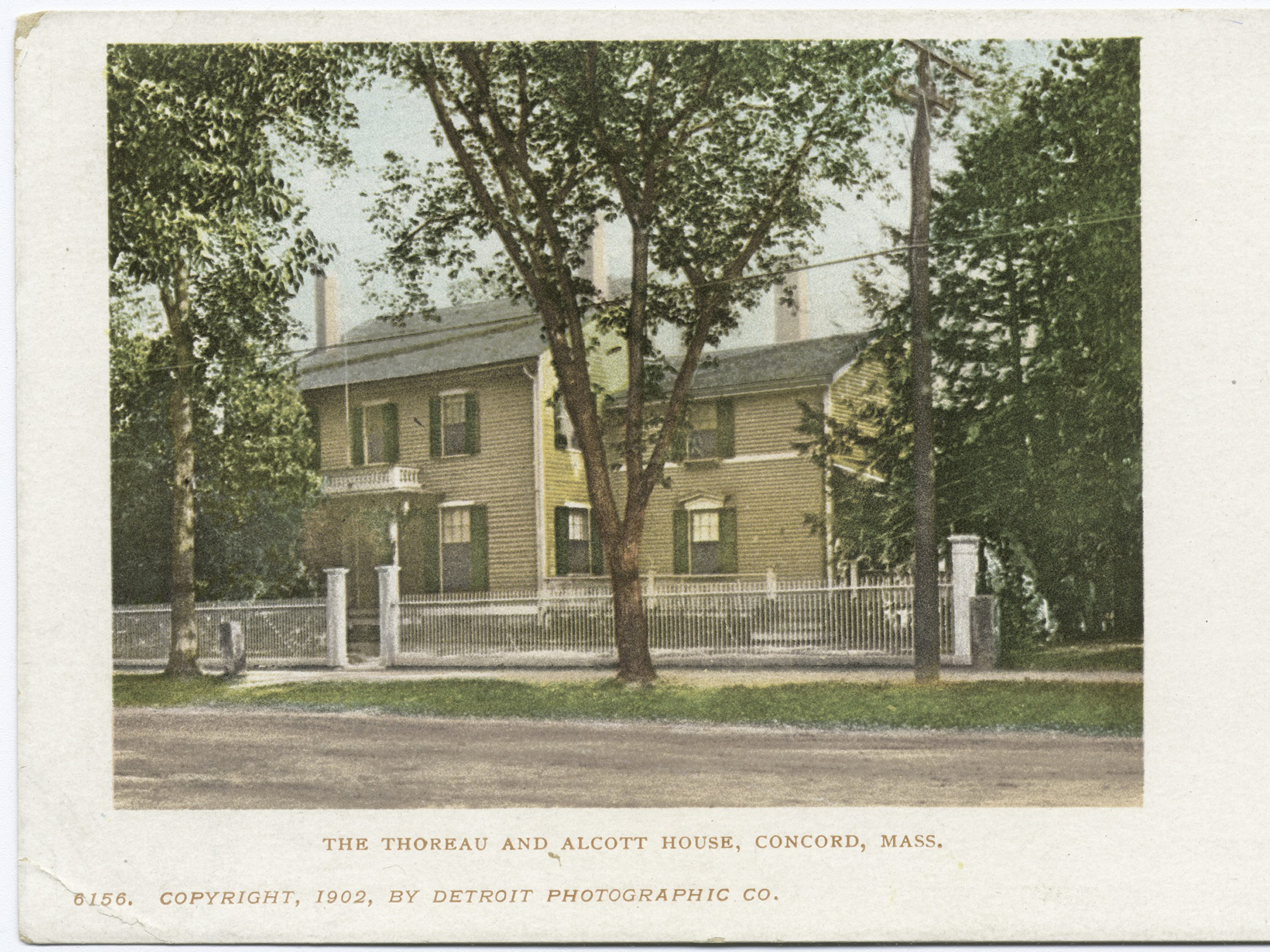 Detroit Publishing Company vintage postcard of the Thoreau and Alcott House, historic house in Concord, Massachusetts, 1902. From the New York Public Library. (Photo by Smith Collection/Gado/Getty Images)